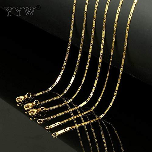 EDCV ketting 45cm lange ketting trui kettingen choker punk ketting Dames mannelijke sieraden Goudkleurige roestvrijstalen ketting
