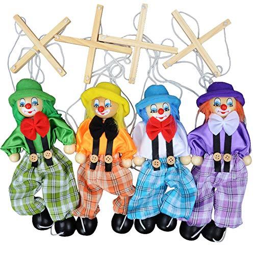 Ogquaton Kreative Pull String Puppet Kid Spielzeug Clown Puppet Lustige Marionette Holz Marionette Kinder Kid Verwenden 1 STÜCKE Bequem Und Praktisch