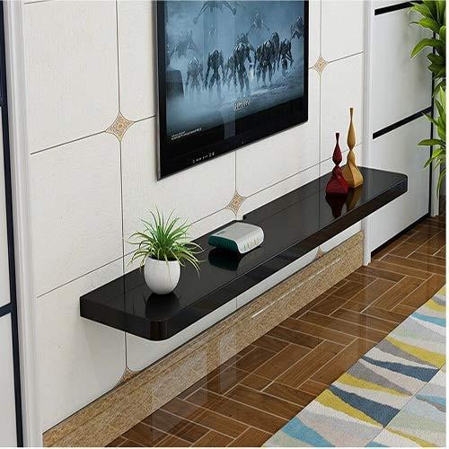 DGDF Estantes colgantes Tarjeta de TV, estante de sala de estar, divisor de habitación, mueble de TV para montaje en pared