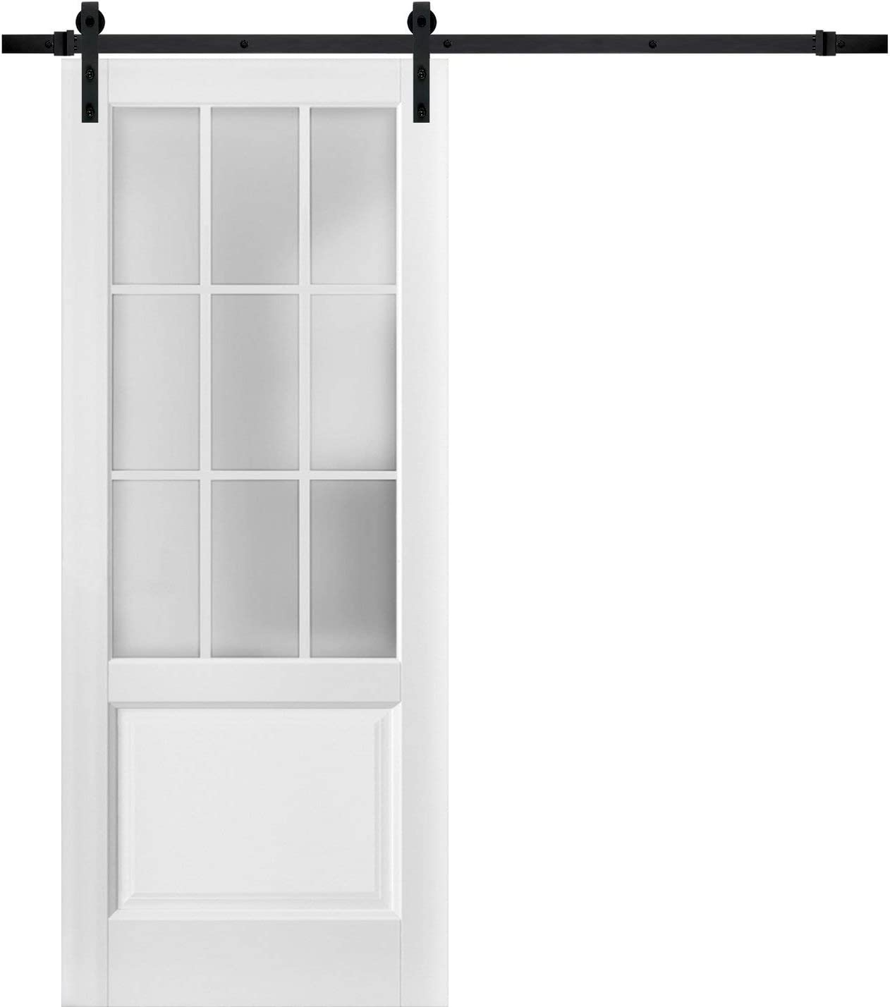 Sturdy Barn Chicago Mall Door Branded goods 24 x 84 inches Lites Glass Frosted Felicia 9