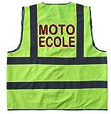 Result - Gilet de sécurité EN 471 - Jaune fluo - R201X - marquage au dos MOTO ECOLE - mixte homme/femme (L/XL)