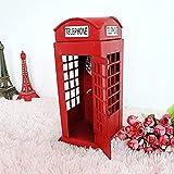 HYY-YY La Nuova Cabina telefonica in Stile Britannico con Ferro di Grandi Dimensioni, Che Contiene Ornamenti Gioielli nostalgici, ha Una Dimensione di 1226 Centimetri Retro Telephone