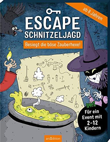 Escape-Schnitzeljagd - Besiegt die böse Zauberhexe!: Für ein Event mit 2-12 Kindern