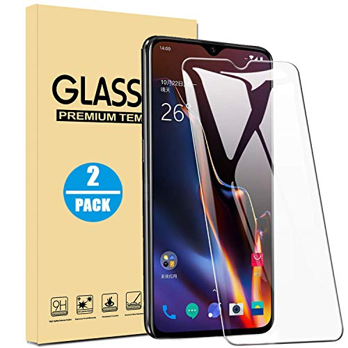 OnePlus 6T Screen Protector, Halnziye [Bubble-Free/Case Friendly] Tempered Glass Screen Protector Film for Oneplus 6T