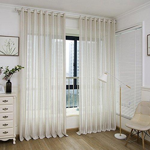 Met Love Chambre moderne d'étude de chambre d'hôtel de fil de bande de fil de rayure de fil minimaliste avec l'écran de fenêtre 2 panneaux (taille : L:3.0*H:2.7m)