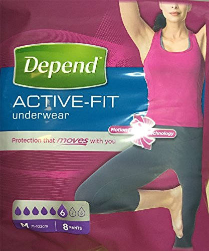 SIX PACKS of Depend Real Fit Underwear For Women 8 Medium Pants