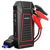 SUAOKI U7 Arrancador de Coches 600A, 12000mAh Arrancador de batería V-0 Retardante de Incendio con Type-C, Pinzas Inteligentes, LED Luz, para Coche, Motocicleta etc.