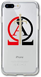 Knights Templar Alpha and Omega Poster iPhone 7 Plus Case, iPhone 8 Plus Case,Shock-Absorption Bumper Cover, Anti-Scratch Clear Back Suitable for 5.5 Inches