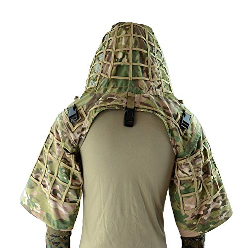 Tactical Sniper Ghillie Base Camouflage Hunting Military Ghillie Suit Foundation CP Multicam