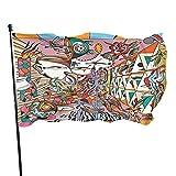 DJNGN Billy Strings Flag Banderas para Exteriores 3x5 pies Decoración de pancartas para Banderas de jardín Banderas Decorativas para el Patio Trasero del hogar