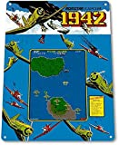 Wenyisign 1942 Classic Airplane Capcom Arcade Marquee Game Room Wall Decor - 8'X12' Tin Metal Sign