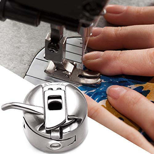 4 Pieces Sewing Machine Bobbin Case Stainless Steel Bobbin Case for Front Loading 15 Class Machines
