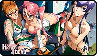 PWorld S297 Stitched/Embroidered Highschool of The Dead PLAYMAT Anime Custom PLAYMAT by MT