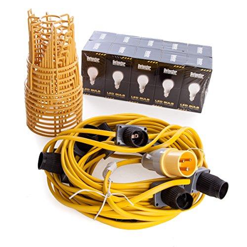 Defender E89811 LED ES Festoon Kit 110V, 100 W, 110 V, Yellow, 22 m