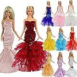 Barwa 3pcs, diseño de Sirena Vestido de Noche con Princesa Noche Boda Vestido de Fiesta Vestido de Ropa Traje para Barbie Doll