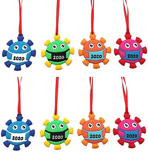 BAGJ 4 Pcs Coronavirus Ornament 2020, 2020 Virus Ornament Quarantine Pandemic Commemorate Christmas Tree Decor Doll (8 Pcs)