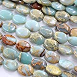 Natural Color Genuine Serpentine Real Gemstone Loose Beads Findings for Jewelry Making Supplies...