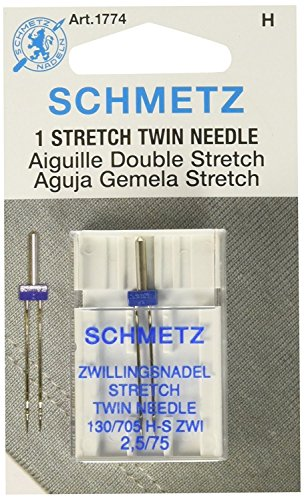 Schmetz 1774 Twin Stretch Machine Needle Size 2.5/75 1ct (2 Pack)
