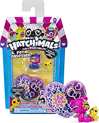 Hatchimals CollEGGtibles, Pet Obsessed HatchiPets 2-Pack with 2 CollEGGtibles and 2 Pets (Styles May Vary) from Spin Master