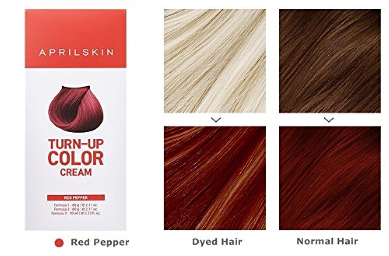 無視受ける育成April Skin Turn Up Color Cream Long lasting Texture Type Hair Dye エイプリルスキン ターンアップカラークリーム長持ちテクスチャタイプヘアダイ (紅)