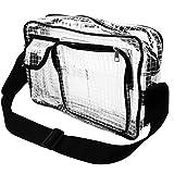 RAY CHILD エンジニアバッグ 2ポケット 透明 防犯 カバン 取り出しやすい セキュリティー 肩掛け 取り出しやすい (メッシュ)