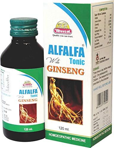 Wheezal Alfalfa With Ginseng Tonic - 120 Ml (Pack Of 3)