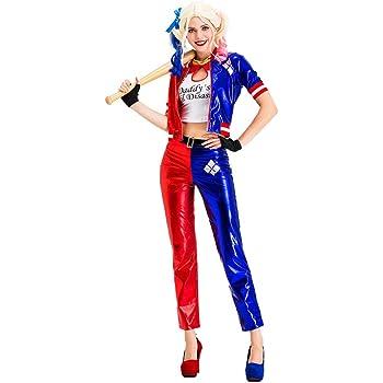 Harley Quinn Disfraz de Cosplay Suicide Squad Halloween Disfraz PU ...