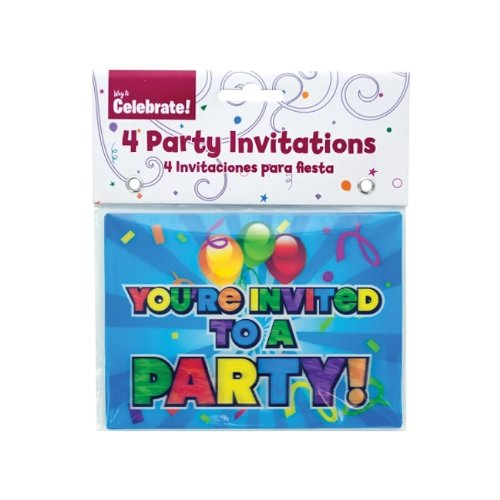 JT Party Supplies Holographic Party Invitations-24 Pack