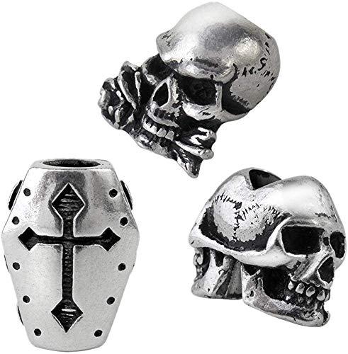 Alchemy Gothic Janus/Coffin/Alchemist Men Beard Beads Standard, Pewter,