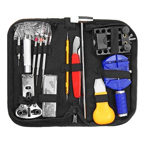 Reparación de relojes Kit de herramientas de nuevo caso Pasador de unión primavera removedor de la correa abridor Conjunto de Herramientas 507Pcs (Quantity: : B)