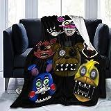 LMHBLTOP Five Nights at Freddy Fleece Blanket Ultra-Soft Flannel Throw Blanket 50'' x40