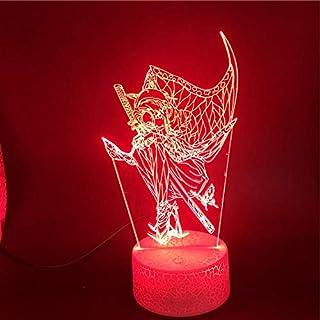3D Lamp Demon Slayer: Kimetsu No Yaiba Kochou Shinobu The Alarm Clock Base Colorful with Remote USB Led Night Light Lamp (...