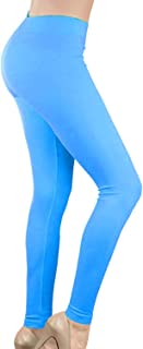 Women's Neon Leggings Seamless Stretchy Tights for 80s Costume Party