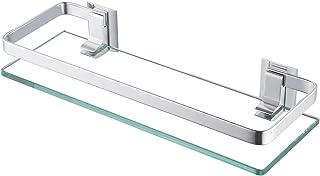 KES Estanteria Baño Aluminio Templado Estanteria Cristal