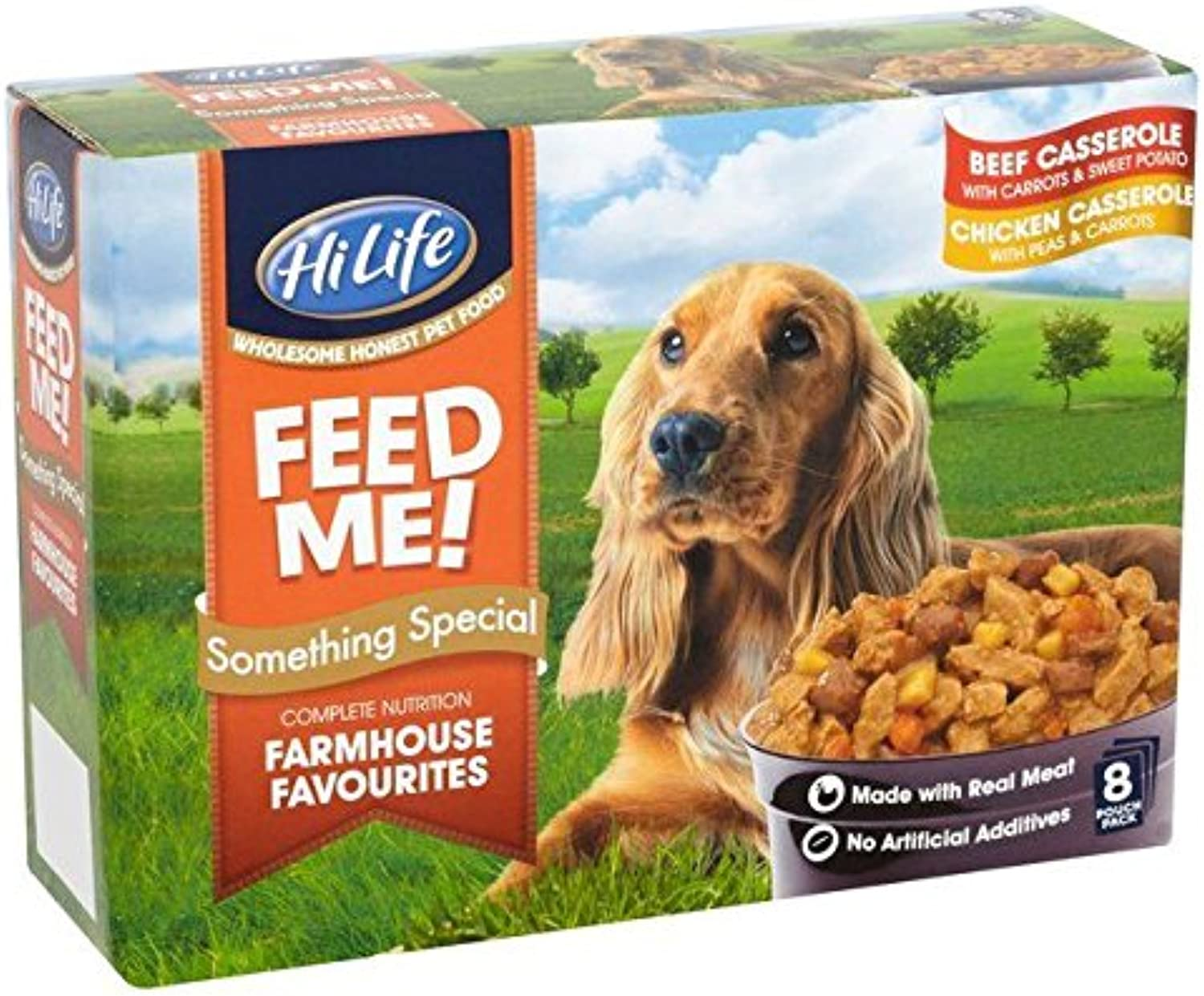 HiLife Feed Me  Something Special Farmhouse Favourites 8 x 100g (PACK OF 6)