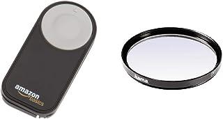 AmazonBasics - Disparador inalámbrico para cámara réflex Digital (5 Metros) Negro + Hama 070058 - Filtro Ultravioleta Color Neutro 58 mm