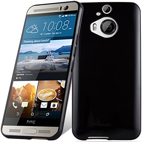Cadorabo Hülle für HTC ONE M9 Plus (3.Gen.) - Hülle in SCHWARZ – Handyhülle aus TPU Silikon im Ultra Slim 'AIR' Design - Silikonhülle Schutzhülle Soft Back Cover Case Bumper
