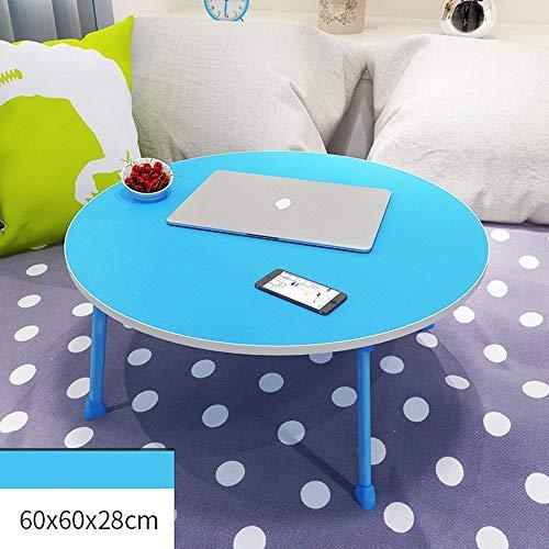 Home&Selected Furniture/draagbare ronde bureau, kinderleesstandaard, laptoptafel, sofa ontbijttafel, 60 x 60 x 28 cm (kleur: rood)