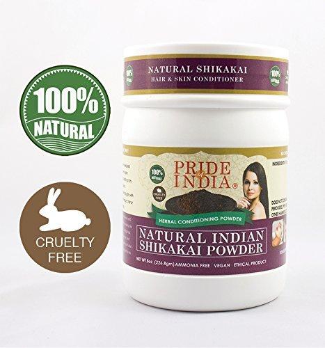 Pride Of India - Indian Shikakai (Acacia Concinna) Herbal Hair & Skin Care Powder, Half Pound, 100% Natural