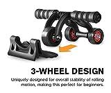 ZZ ZONEX Unisex 3-Wheel AB Roller Toner Exercise Equipment for...