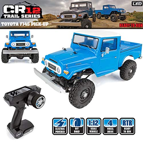 Team Associated 40003 CR12 Toyota FJ45 Pickup Truck Ready to Run, Electric 1: 12th Scale 4WD, Brushed (Blue)