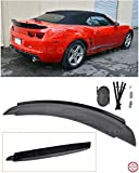 Extreme Online Store for 2010-2013 Chevrrolet Camaro   EOS ZL1 Style Rear Trunk Lid Wing Spoiler with Aluminum Glossy Black Center WickerBill Insert (ABS Plastic - Primer Black)