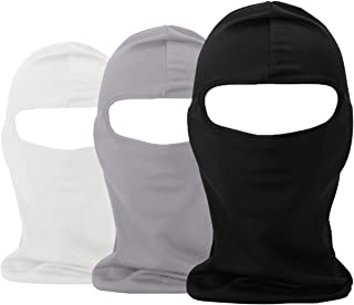 Balaclava UV Protection Summer Face Masks for Cycling Outdoor Sports Full Face Mask Breathable 3pack