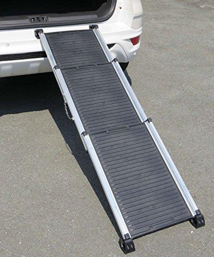 PETGARD Hundetreppe, klappbare Teleskoprampe für das Auto, dreiteilige Einstiegshilfe auch für große Haustiere, 73-163 cm, Charleston
