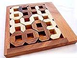 Logica Juegos Art. Números - Rompecabezas Geométrico de Madera Preciosa - Dificultad 4/6 Extrema - Serie Euclide
