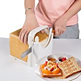 Trancheuse à pain dotée d'un guide de coupe - Matériau ABS respectueux de l'environnement - Blanc
