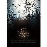 Fondo de Halloween Calabaza Linterna Castillo Bosque Luna lápida bebé Estudio fotográfico Accesorios de fotografía A26 7x5ft / 2,1x1,5 m