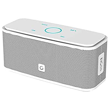 Bluetooth Speakers DOSS SoundBox Touch Portable Wireless Bluetooth Speakers with 12W HD Sound and Bass IPX5 Waterproof 20H Playtime,Touch Control Handsfree Speakers for Home,Outdoor,Travel- White