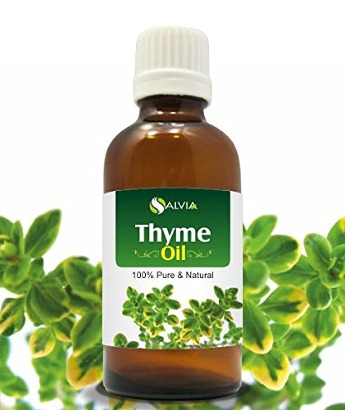 秀でる申請中ヨーグルトTHYME OIL 100% NATURAL PURE UNDILUTED UNCUT ESSENTIAL OIL 15ML