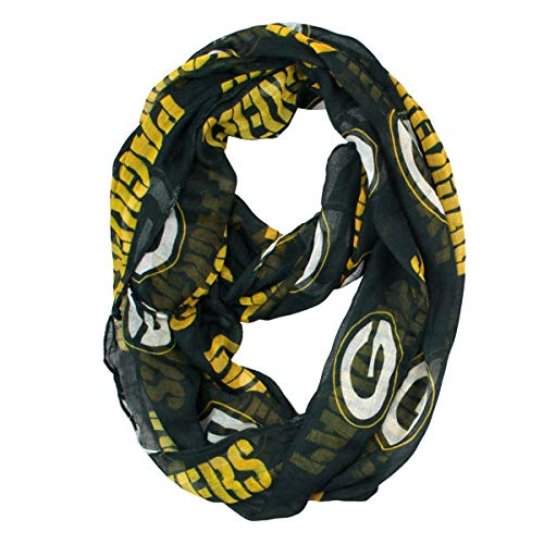 """Littlearth womens NFL Green Bay Packers Sheer Infinity Scarf Standard Color, 70"""" H x 25"""" W"""